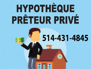 Prêteur privé  meilleur taux  PRÊT Hypothèque 1er ou 2e ran