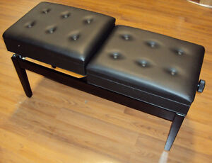 Double Adjustable Piano Bench with Book Storages www.musicm.ca