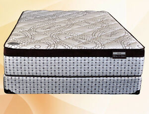 NEW HIGH END POCKET COIL QUEEN MATTRESS SET