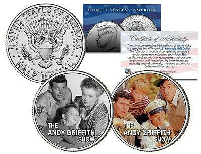 The Andy Griffith Show   Tv   Colorized Jfk Half Dollar 2 Coin Set Gomer Barney