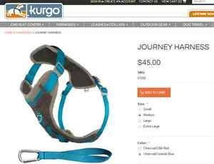 KURGO Journey Walking Harness for a medium dog
