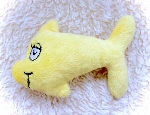 RARE Dr Seuss Cat In The Hat Yellow Fish Plush Plushie Soft S