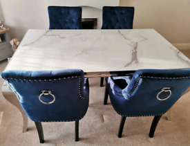 Marble dining table set (BRAND NEW)