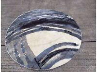west elm Ink Round Rug, Grey dia 6ft (182cm)