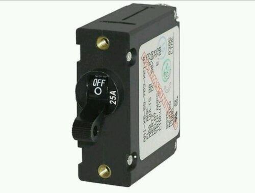 BLUE SEA SYSTEMS MAGNETIC CIRCUIT BREAKER 25 AMP 7216 BLACK SINGLE POLE AC/DC