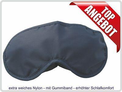 Schlafmaske Schlafbrille Augenbinde Augenmaske aus weichem schwarzen Nylon ()