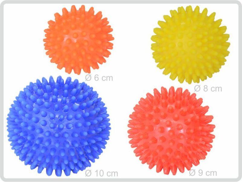 Massageball Igelball Igel-Ball Noppenball 2er gelb - orange