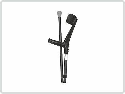 Unterarmgehstütze Gehhilfe Krücke faltbar 1 Stück Leichtmetall, schwarz