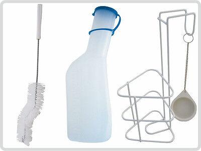 Urinflaschen Set Urinflasche Halter + Deckel + Urinflaschenbürste,autoklavierbar