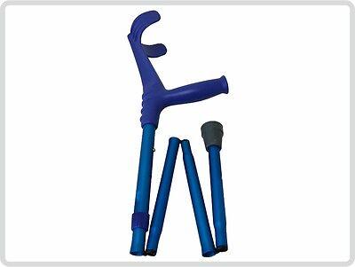 Unterarmgehstütze Gehhilfe Krücke faltbar 1 Stück Leichtmetall, Farbe: Blau