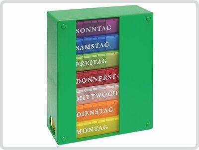 Medikamentendosierer Medikamentendispenser Medikamentenbox für 1 Woche, Grün****