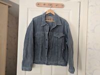 Levi Strauss blue cord jacket, Men's XL.
