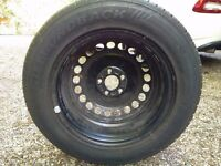 Unused Spare Wheel and hub cap for Ford Galaxy Mk2. 215/60HR16 Speed H Load 99
