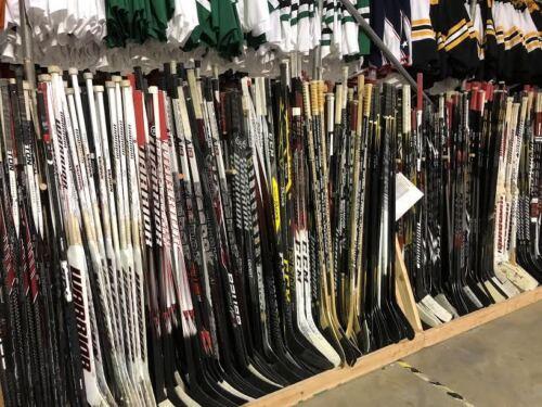 2 Pack Of Used Random CCM Bauer Easton Pro Stock Hockey Sticks Right MeiGray