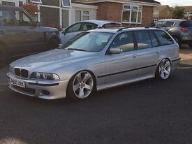 BMW E39 5 SERIES TOURING MODIFIED X5 WHEELS LOWERED LONG MOT FULL LEATHER