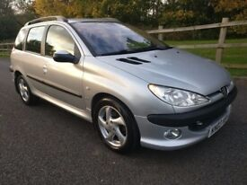 PEUGEOT 206 2.0 HDI. SW ESTATE / 12 MONTHS MOT / FULL PEUGEOT SERVICE HISTORY X13 STAMPS!!