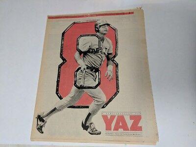 Vintage 1983 The Boston Globe A Tribute To Yaz Red Sox Carl Yastremski Newspaper