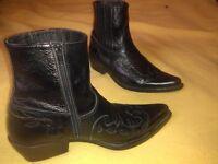 Leather Original Commanchero Cowboy Boots Size UK-9