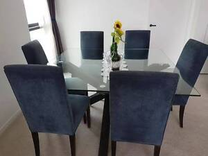 Square Dining Table + 6 Chairs - VERY GOOD CONDITION South Brisbane Brisbane South West Preview