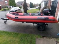Seapro 3.8 M 30hp boat and trailer