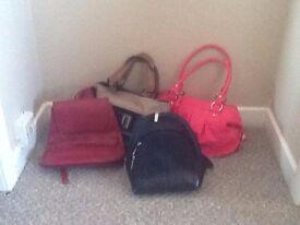 Various Ladies Handbags For sale.