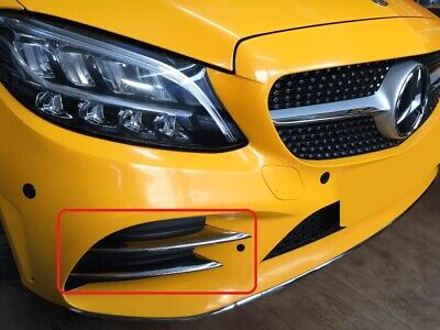 Mercedes C-Klasse W205 AMG 2018+ Chrom Blende Stossfänger (4-Teilig)