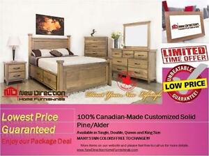 Inventory Blow Out Sale-Canadian-Made Customized Solid Wood Bedroom on Sale@New Direction Home Furnishings