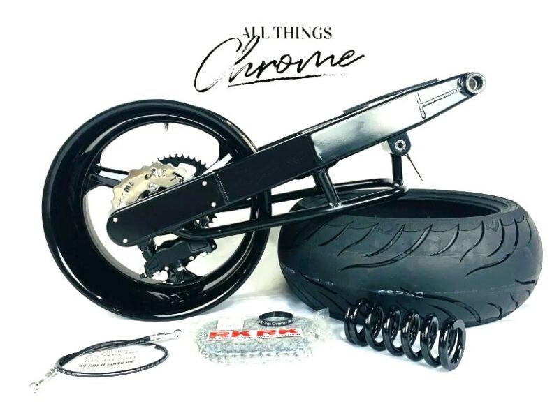Hayabusa 240 Fat Tire Kit All Black Replica Wheels 2013-2020 Suzuki Hayabusa Abs