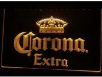 Corona Extra Mexico Beer Bar Pub Club LED Neon Light Sign color orange