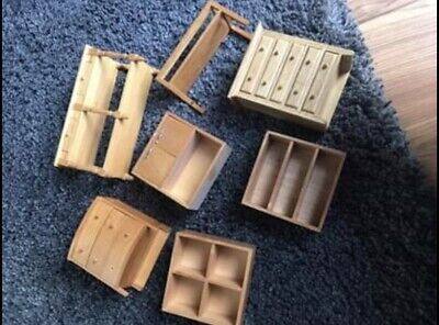 Mixed Vintage Wooden Dolls House Furniture Job Lot