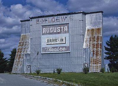 Classic Drive-In Movie Theater PHOTO Augusta Loew's Screen
