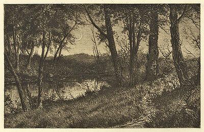 Benjamin Lander : Newmoon. - Radierung, gedruckt 1892