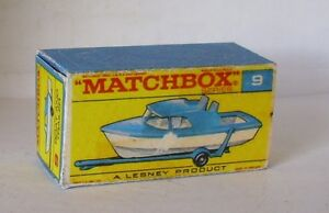 Repro Box Matchbox 1:75 Nr.09 Boat and Trailer