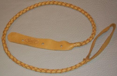 Lakota Leathers Round Braided Mandolin Strap - Gold