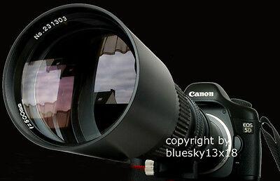 Teleobjektiv 500/1000mm f. Sony Alpha 230 290 380 500 550 55 77 450 500 550 usw.