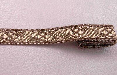 3mt. Antike Borte Bordüre Spitze Gold aus Frankreich 1,5cm Breit