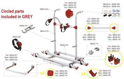 Fiamma Portabicicletas Pro Repuestos Plástico Paquete Gris Para Caravana Rack CB