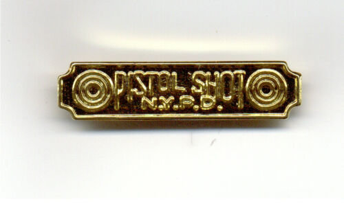 Pistol Shot Citation Bar of the New York City Police Dept.
