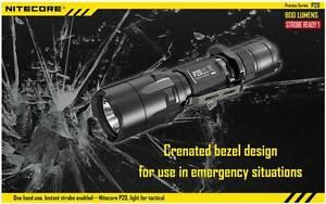 NITECORE P20 TACTICAL LED FLASHLIGHT 800 LUMENS CREE LED with 3 MODES & HOLSTER