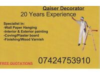 Qaiser Decorator - Interior & Exterior Painting, Wallpaper Hanging, Coving Board
