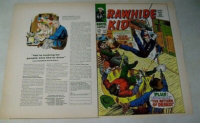 RAWHIDE KID #62 COVER ART original cover proof, 1960's MARVEL WESTERN