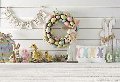 Photo Backdrops Vinyl 5x3FT Easter Egg Wreath Photography Background Studio Prop