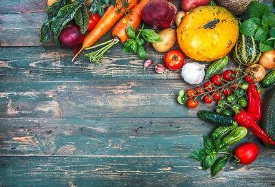 Справочный материал Vegetable Fruit Retro Wooden