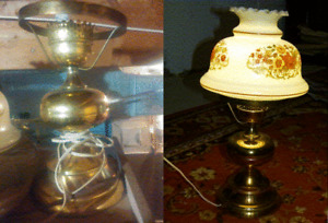 VERY NICE AND BEAUTIFUL ANTIQUE TABLE LAMP FOR $25