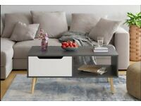 Coffee Table Living Room Table Modern Side Table TV Stand Centre Table with Drawer