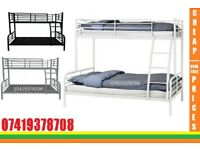 Brand New Double Bottom With Single Top Bunk Frame Bed Available Order Now