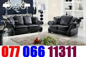 lux-ury Leather 3+2 Sofa black Friday offer