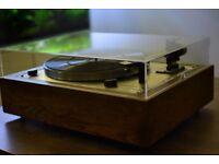 Vintage Thorens TD165 Special turntable with handmade plinth