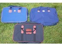 Three flat pack soft suitcases, medium size