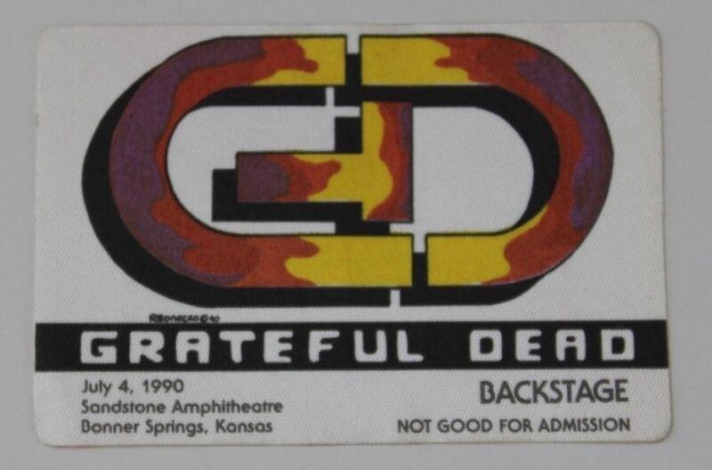 Grateful Dead Backstage Pass 7-4-90 Kansas